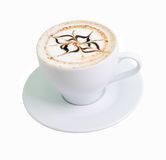 .latte coffee with white chocolate Stock Images