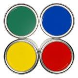 Latte colorate della vernice Immagine Stock Libera da Diritti