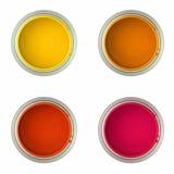 Latte con vernice (vista superiore) Fotografia Stock