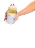 Latte condensato di versamento III Fotografia Stock