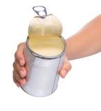 Latte condensato di versamento IV Fotografie Stock