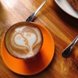 Latte Cup lizenzfreie stockfotografie