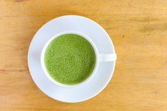 Latte Cup of green tea Royalty Free Stock Photography