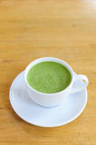 Latte Cup of green tea Stock Photo