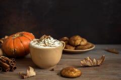 Latte d'épice de potiron Image libre de droits