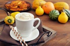 Latte d'épice de potiron photo libre de droits