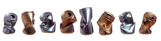 Latte d'argento e dorate Immagine Stock