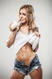 Latte da aptidão fotografia de stock