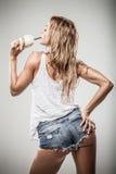 Latte da aptidão foto de stock