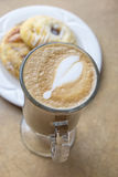 Latte and Danish Pastries Royalty Free Stock Photos