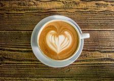 Latte de Coffe avec un coeur Photos libres de droits