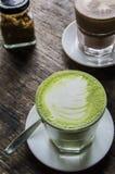 Latte de Matcha, chá verde Fotografia de Stock