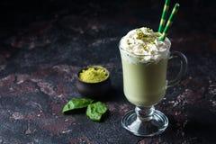Latte de matcha de thé vert photo stock