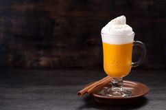 Latte de potiron d'épice photos stock
