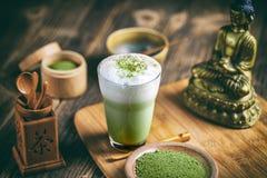 Latte de thé de Matcha image stock