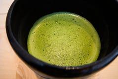 Latte de thé vert de Matcha Photographie stock libre de droits
