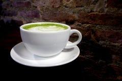 Latte de thé vert de Matcha Photographie stock