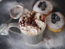 Latte del caffè Fotografie Stock
