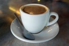 Latte del caffè del tè di pomeriggio Immagini Stock Libere da Diritti