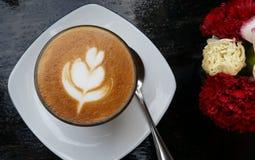 Latte del caffè di mattina fotografia stock