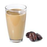 Latte del caffè e chicchi di caffè Fotografie Stock