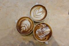 Latte del caffè e della tazza da caffè Immagine Stock Libera da Diritti