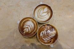 Latte del caffè e della tazza da caffè Fotografia Stock Libera da Diritti