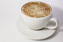 Latte del caffè nel fondo bianco Fotografia Stock Libera da Diritti