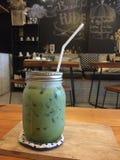 Latte del greentea de Matcha Imagenes de archivo