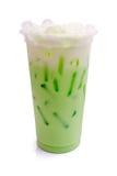 Latte del kiwi dal vetro Immagini Stock