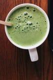 Latte del matcha de Greentea Fotografía de archivo