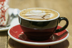 latte del tè-caffè di pomeriggio Immagini Stock Libere da Diritti