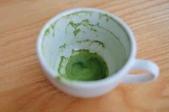 Latte del tè verde immagine stock