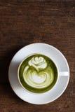 Latte del tè verde fotografia stock