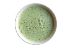 Latte del té verde Imagenes de archivo