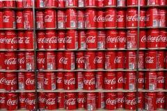 Latte della coca-cola fotografia stock