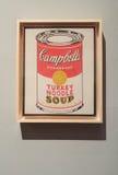 Latte della minestra del ` s di Andy Warhol Campbell immagini stock