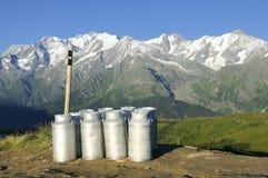 Latte della montagna Fotografia Stock Libera da Diritti
