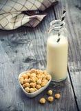 Latte della nocciola Fotografia Stock