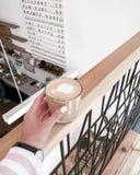 Latte della pausa caffè Immagini Stock
