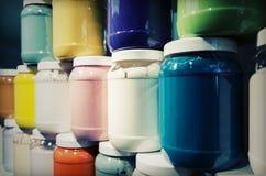 Latte della pittura Fotografia Stock