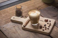 Latte della tazza di caffè Fotografia Stock