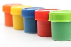 Latte della vernice di gouache Fotografie Stock Libere da Diritti