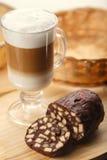 Latte with dessert Stock Photos