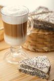 Latte with dessert Stock Image