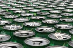 Latte di alluminio da riciclare Immagine Stock