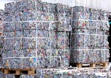 Latte di alluminio del residuo Fotografie Stock Libere da Diritti
