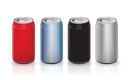 Latte di alluminio della bevanda di vettore Immagini Stock
