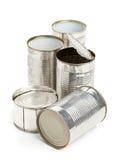 Latte di alluminio utilizzate Fotografia Stock Libera da Diritti