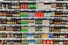Latte di birra Immagine Stock
